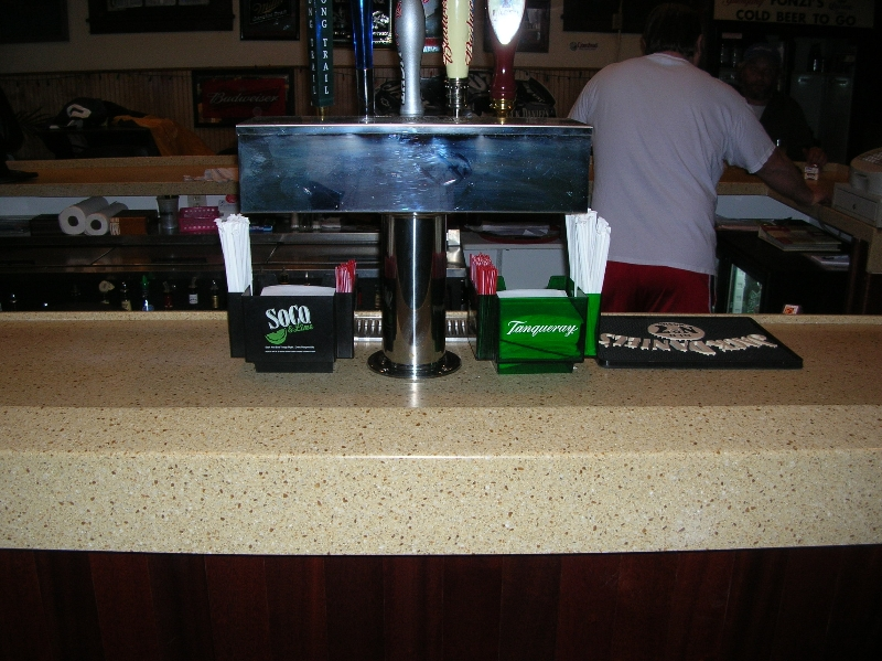 granite bar countertop installation for a Pittsburgh business.