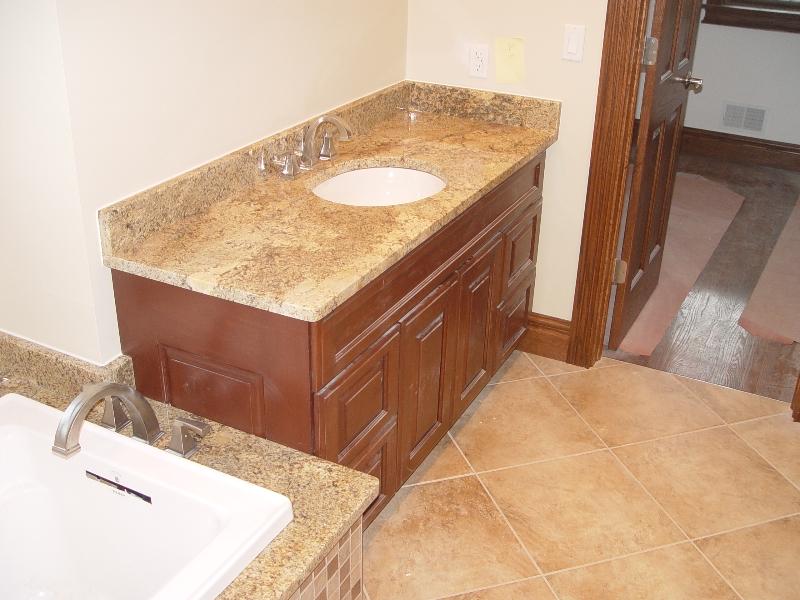 granite countertop in the bathroom