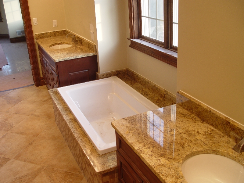 luxury bathroom granite installation in a Pittsburgh home
