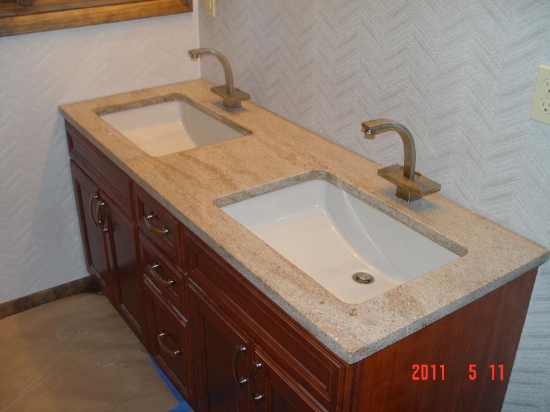 granite bathroom countertop installation by lexmar