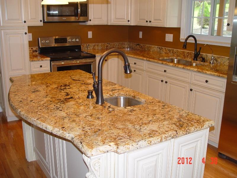 granite countertop installation in kitchen by lexmar