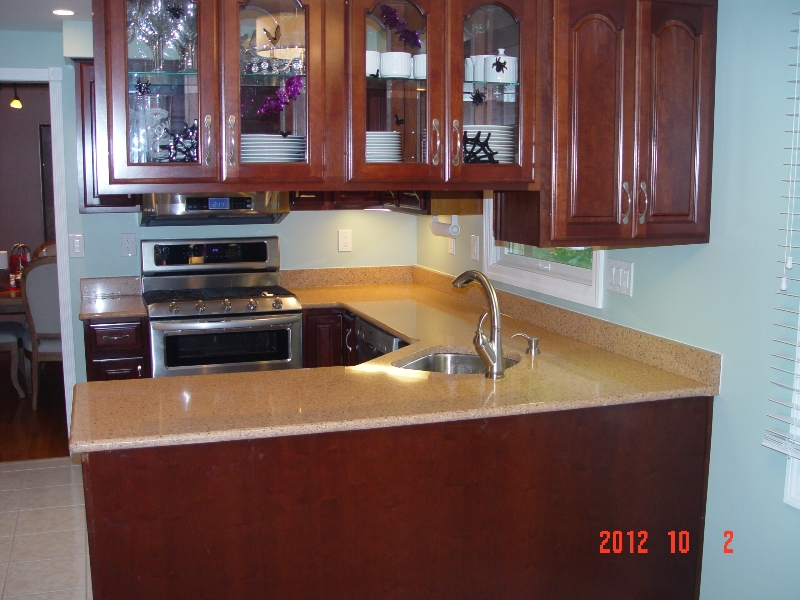 new granite countertop installed by lexmar