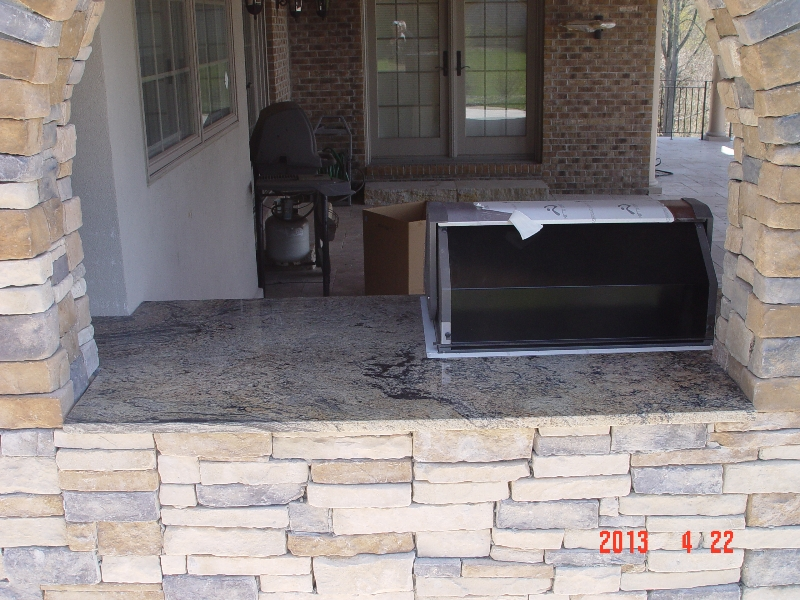 outdoor granite countertop installation job from lexmar
