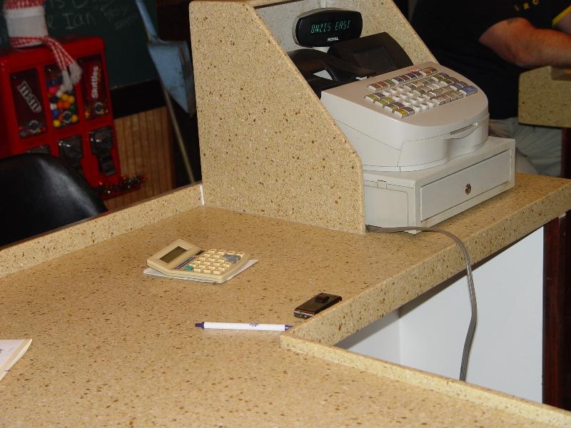 granite countertop installed in retail setting