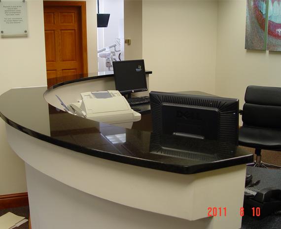 countertop in a doctors office