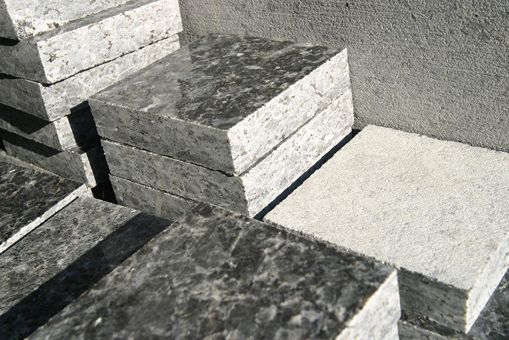 blocks of granite